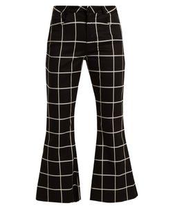 Marques Almeida | Checked Slim-Leg Cotton-Blend Trousers