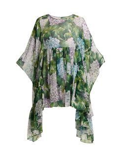 Dolce & Gabbana | Ortensia-Print Silk-Chiffon Blouse