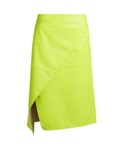 SIES MARJAN | Irma Asymmetric-Front Leather Skirt