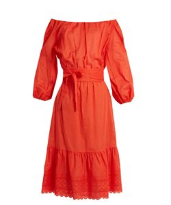 Vanessa Bruno | Gils Off-The-Shoulder Cotton-Voile Dress
