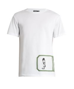 Raf Simons | Self Portrait-Print Cotton T-Shirt