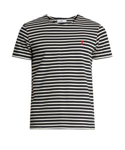 Ami | Striped Cotton-Jersey T-Shirt