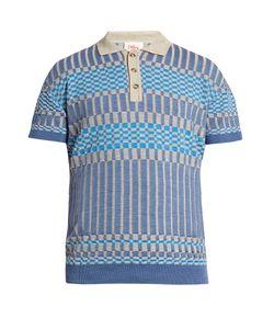 ORLEY | Check-Knit Merino-Wool Polo Shirt