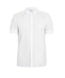 Neil Barrett | Shoulder-Epaulette Cotton-Poplin Shirt