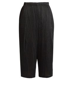 PLEATS PLEASE BY ISSEY MIYAKE | Pleated Dropped-Crotch Cropped Trousers