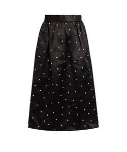 Jupe By Jackie | Gala Polka-Dot Embroidered Satin Skirt