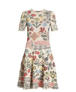 Alexander McQueen | Cross Stitch-Jacquard A-Line Dress