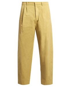 Fanmail | Pleat-Front Cotton Straight-Leg Trousers