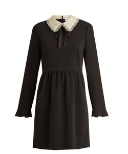 Red Valentino | Stretch-Crepe Long-Sleeved Dress