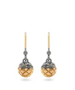 Bottega Veneta | Intrecciato-Engraved Earrings