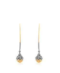 Bottega Veneta | Intrecciato-Engraved Long Earrings