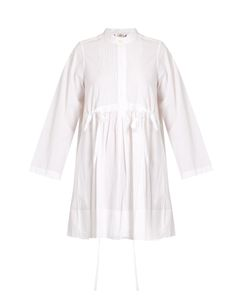 Chloe | Pintucked Cotton-Poplin Dress