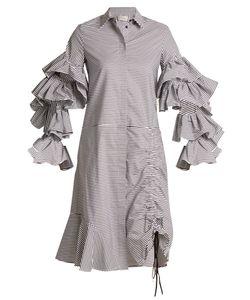 Preen By Thornton Bregazzi | Shona Detachable-Sleeve Striped Cotton Dress