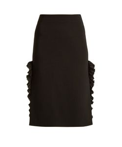 No. 21 | Ruffle-Trimmed Stretch-Crepe Pencil Skirt