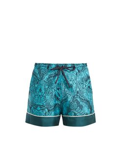Mary Katrantzou | Rook Dragon-Print Silk-Twill Shorts