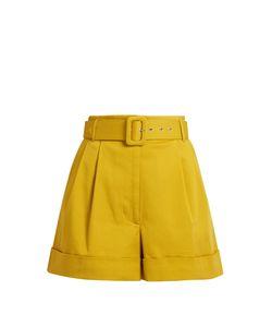 Isa Arfen   Safari High-Waist Cotton-Twill Shorts