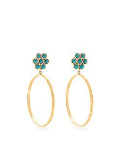 Sylvia Toledano | Flower Plated Clip-On Hoop Earrings