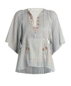 Isabel Marant Étoile | Joy Embroide Striped Cotton Top