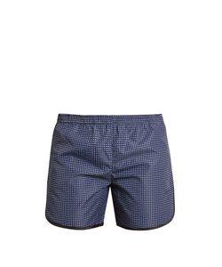 Robinson Les Bains   Cambridge Long Geometric-Print Swim Shorts