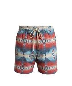 Faherty   Aztec And Jewel-Print Swim Shorts