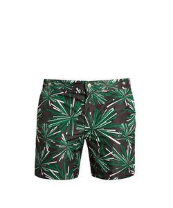 Robinson Les Bains   Oxford Long Mikado-Print Swim Shorts