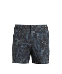 DANWARD | Geometric-Print Swim Shorts