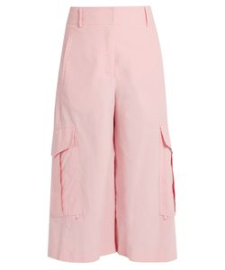 SIES MARJAN | Sidney Cropped Wide-Leg Cotton Cargo Trousers