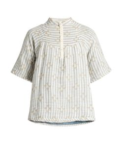 ACE & JIG | Bronte Striped Cotton-Blend Top