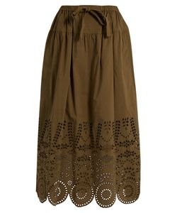 Muveil | Broderie-Anglaise Cotton Skirt