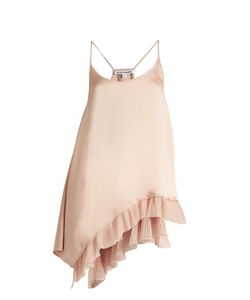 Elizabeth And James | Angela Ruffle-Trimmed Satin Cami Top