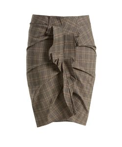 Isabel Marant Étoile | Noora Prince Of Wales-Checked Stretch-Cotton Skirt