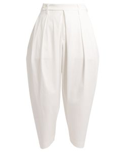 Issey Miyake | High-Rise Carrot-Leg Stretch-Cotton Trousers