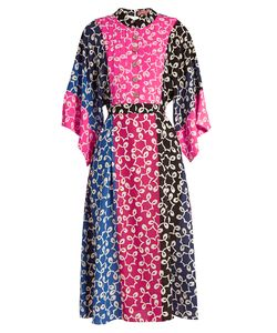 Duro Olowu | Nina Contrast-Panel Kimono-Sleeved Crepe Dress
