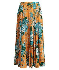 Diane Von Furstenberg   Bournier Print Silk-Crepe Maxi Skirt