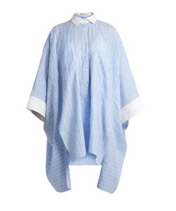 PALMER/HARDING | Oversized Step-Hem Striped Shirt