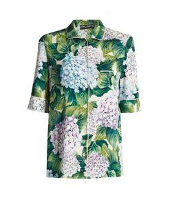 Dolce & Gabbana | Ortensia-Print Charmeuse Pyjama Top