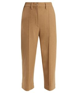 MM6 by Maison Margiela | Mid-Rise Brushed Wool-Blend Cropped Trousers