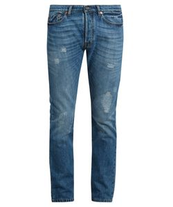 Valentino | Distressed Slim-Leg Jeans