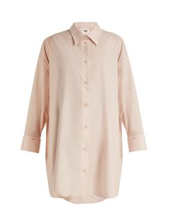 MM6 by Maison Margiela | Detachable-Collar Cotton-Poplin Shirtdress