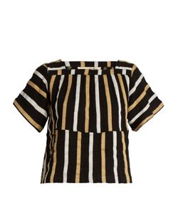 ACE & JIG | Vista Square-Neck Striped Textured-Cotton Top