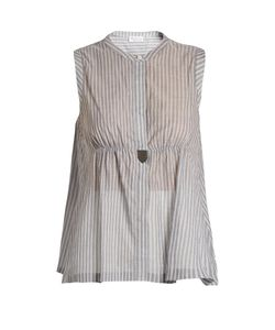 Brunello Cucinelli | Monili-Embellished Striped Cotton Top