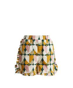 LA DOUBLEJ EDITIONS | The Ruffle Stretch-Cotton Shorts