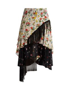 Preen Line | Rochelleprint Crepe De Chine Skirt