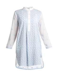 Juliet Dunn | Embroidered Cotton-Voile Kaftan