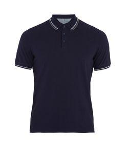 Brunello Cucinelli | Contrast-Trim Cotton-Piqué Polo Shirt