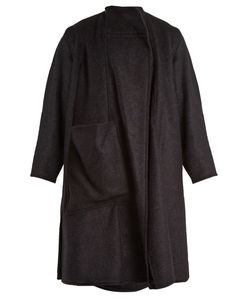 LEMAIRE   Wrap-Style Boiled Wool-Blend Coat