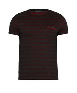 Alexander McQueen | Logo-Embroidered Striped Cotton T-Shirt