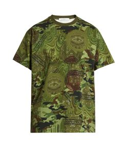 Givenchy | Columbian-Fit Camouflage Dollar-Print T-Shirt