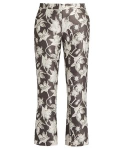 OSMAN | Yasmin And Bug-Brocade Cropped Trousers