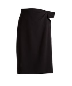 Bottega Veneta | Asymmetric Wool-Crepe Pencil Skirt